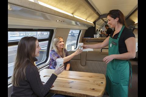 Sbb Launches Starbucks Coffee Coach News Railway Gazette
